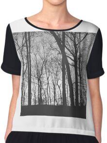 Grey Forest Chiffon Top