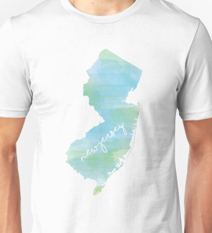 Watercolor New Jersey Unisex T-Shirt