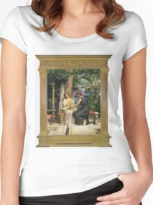 Edward Poynter - Helena And Hermia 1901. Poynter - woman portrait. Women's Fitted Scoop T-Shirt