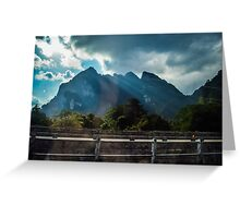 Mountain drive through Khao Sok National Park  Greeting Card