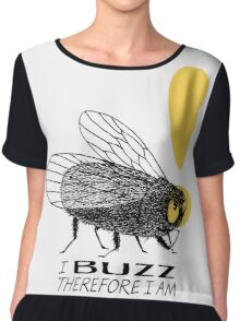 Thinker fly, I buzz therefore I am Women's Chiffon Top