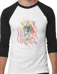 Ibiza Summer Flame Men's Baseball ¾ T-Shirt