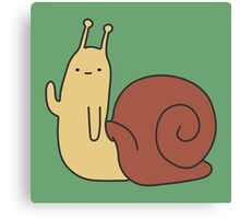 Adventure Time Snail - Small Canvas Print