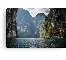 Taking it easy on Cheow Lan Lake, Thailand Canvas Print
