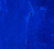 Blue Cracked Wall Sticker