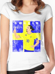SWEDEN EURO 2016 Women's Fitted Scoop T-Shirt