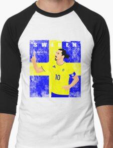 SWEDEN EURO 2016 Men's Baseball ¾ T-Shirt