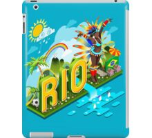 Brasil Rio Summer Infographic Isometric 3D iPad Case/Skin