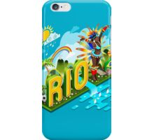 Brasil Rio Summer Infographic Isometric 3D iPhone Case/Skin