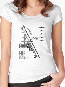 Hill Air Force Base Airfield Diagram (Gray) Women's Fitted Scoop T-Shirt