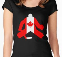 Canadian Flag Goalie Women's Fitted Scoop T-Shirt
