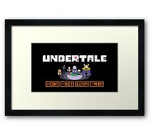 Undertale Charecters Group Framed Print