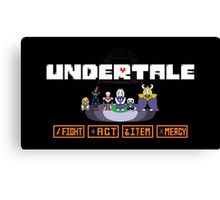 Undertale Charecters Group Canvas Print