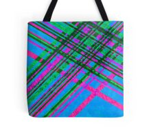 Pink and Blue with Green Plaid Tote Bag