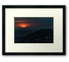 Guayaquil Aerial Landscape Sunset Scene Framed Print
