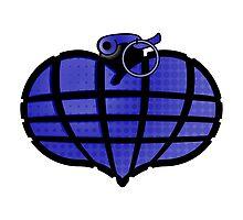 HeartGrenade: Blue Photographic Print