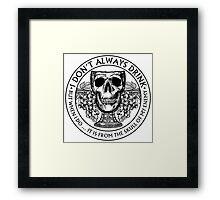 Skull Goblet Framed Print