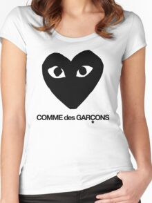 CDG Black Women's Fitted Scoop T-Shirt