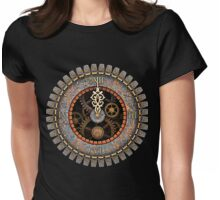 Infernal Steampunk Vintage Clock Face No.2 Womens Fitted T-Shirt