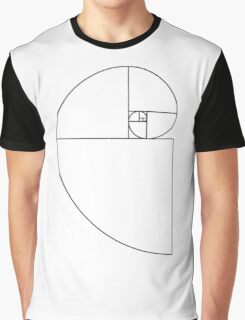 Golden Ratio Spiral - Sections Outline Graphic T-Shirt