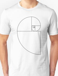 Golden Ratio Spiral - Sections Outline Unisex T-Shirt