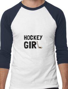 Hockey Girl Men's Baseball ¾ T-Shirt