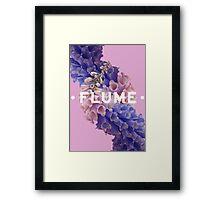 flume skin - purple Framed Print