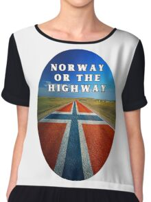 Norway or the Highway Chiffon Top