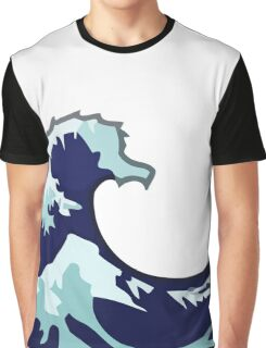 Water Wave Emoji Graphic T-Shirt