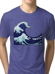 Water Wave Emoji Tri-blend T-Shirt