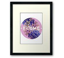 flume skin - circle Framed Print