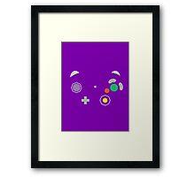 Gamecube Controller Buttons - Colour Framed Print