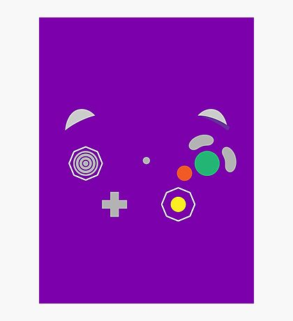 Gamecube Controller Buttons - Colour Photographic Print