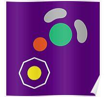 Gamecube Controller Button Symbol Poster