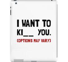 Kiss Kill You iPad Case/Skin