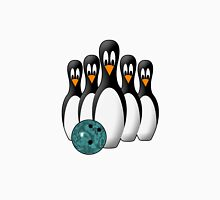 Cute Penguin Bowling Pins Women's Fitted V-Neck T-Shirt