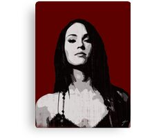 Megan ' s stern glance Canvas Print