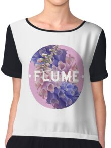 flume skin - circle Chiffon Top