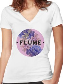 flume skin - circle Women's Fitted V-Neck T-Shirt