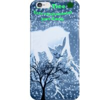 Blue World and a tree iPhone Case/Skin