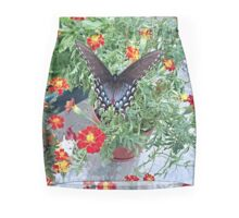 Butterfly on Marigolds Mini Skirt