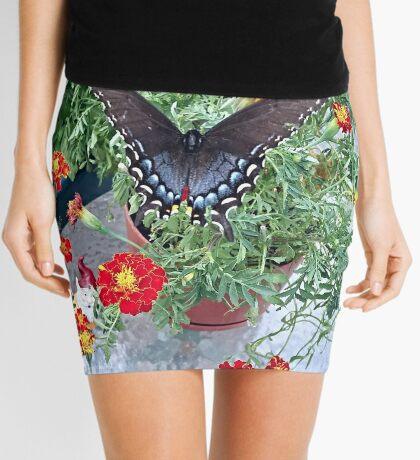 Butterfly on Marigolds Mini Skirt