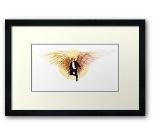 Feathers and Leather Framed Print