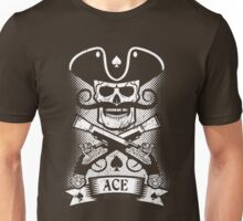Pirate skull logo  with grunge Unisex T-Shirt
