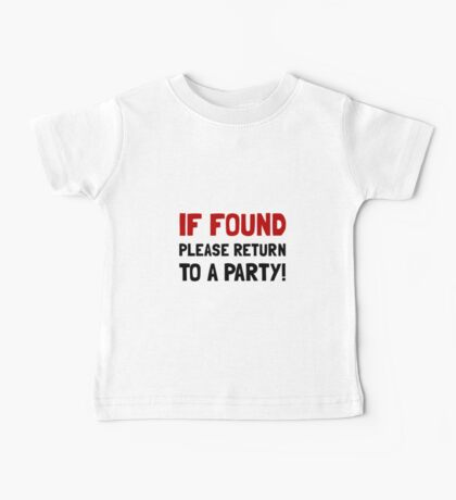 Return To Party Baby Tee