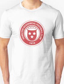 Hamilton Academical FC Badge - Scottish Premier League Unisex T-Shirt