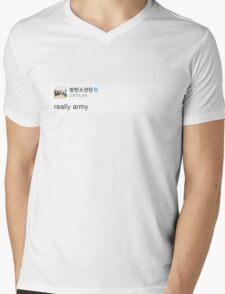 Really Army Mens V-Neck T-Shirt