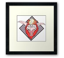 Labyrinth Firey Framed Print