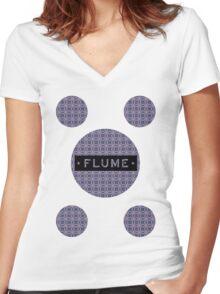 Flume - MultiRound  Women's Fitted V-Neck T-Shirt