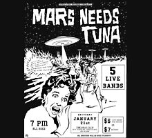 Mars Needs Tuna PUNK FLYER Retro Mens V-Neck T-Shirt
